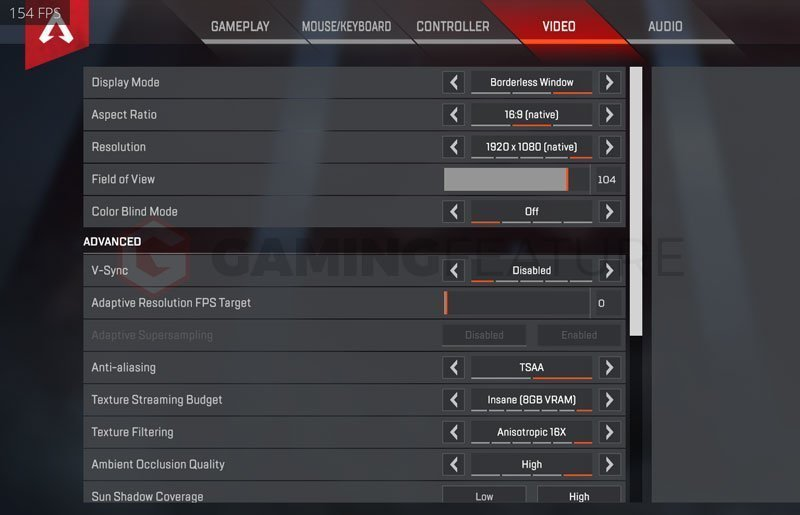 Dakotaz Apex Legends Settings
