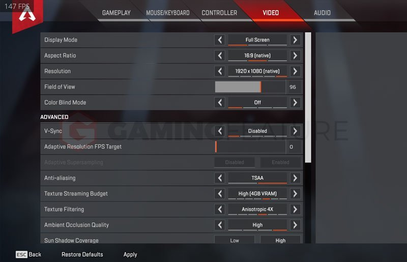 DrDisrespect Apex Legends Settings