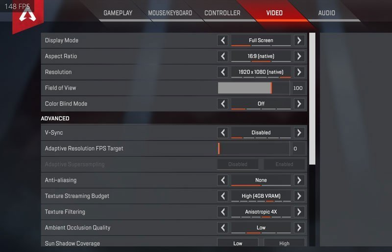 DrLupo Apex Legends Settings