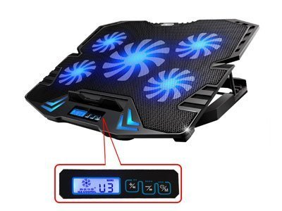 laptop cooling pad with display