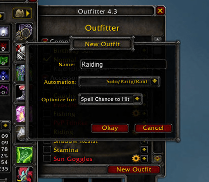 outfitter wow classic addon