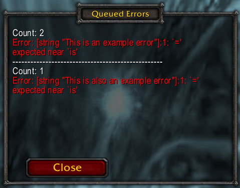 wow classic error message