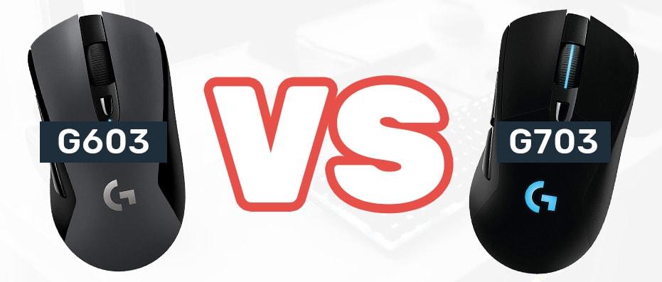 G603 vs G703 logitech