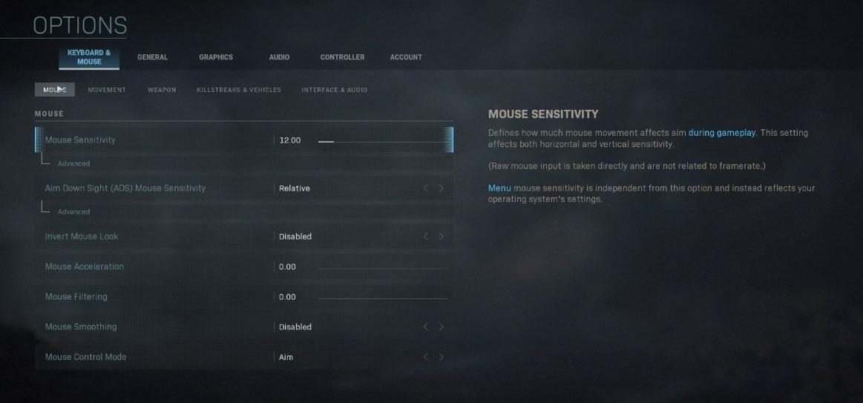 LIRIK Modern Warfare Sensitivity