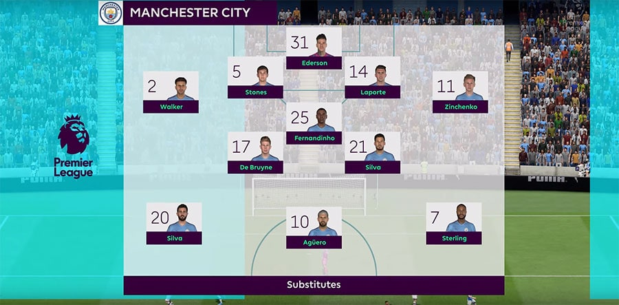 Manchester City formations fifa