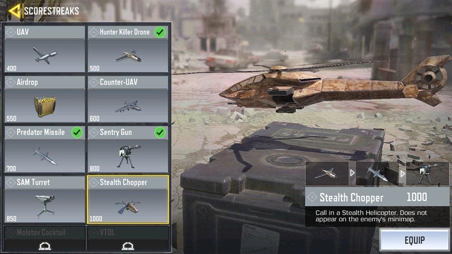 Scorestreaks Call of Duty Mobile