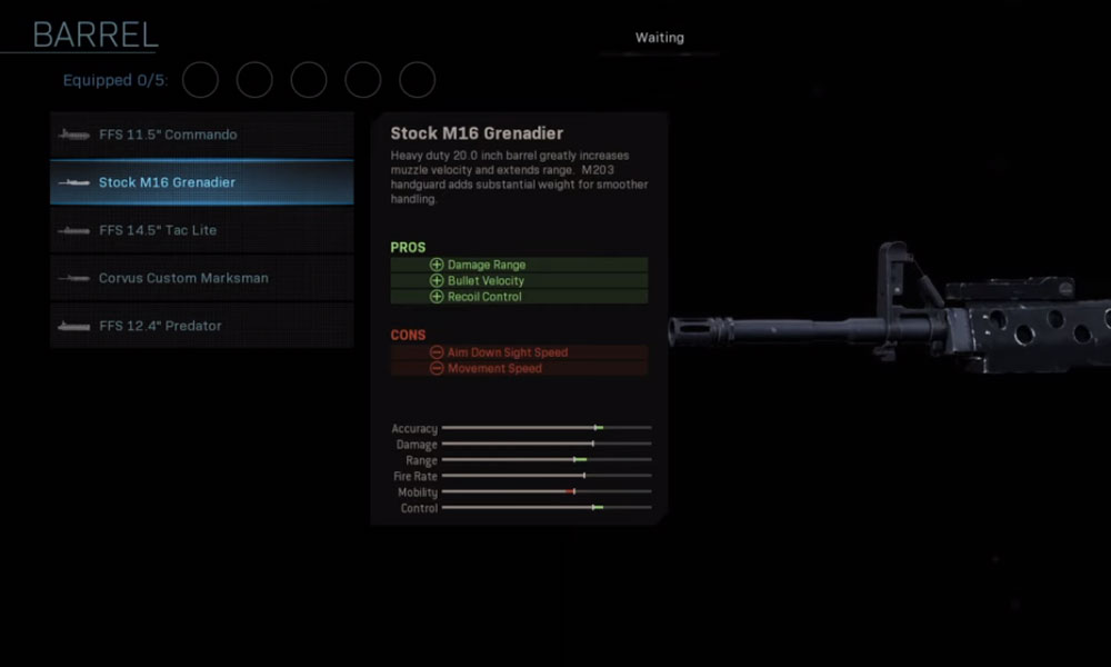 Stock M16 Grenadier call of duty