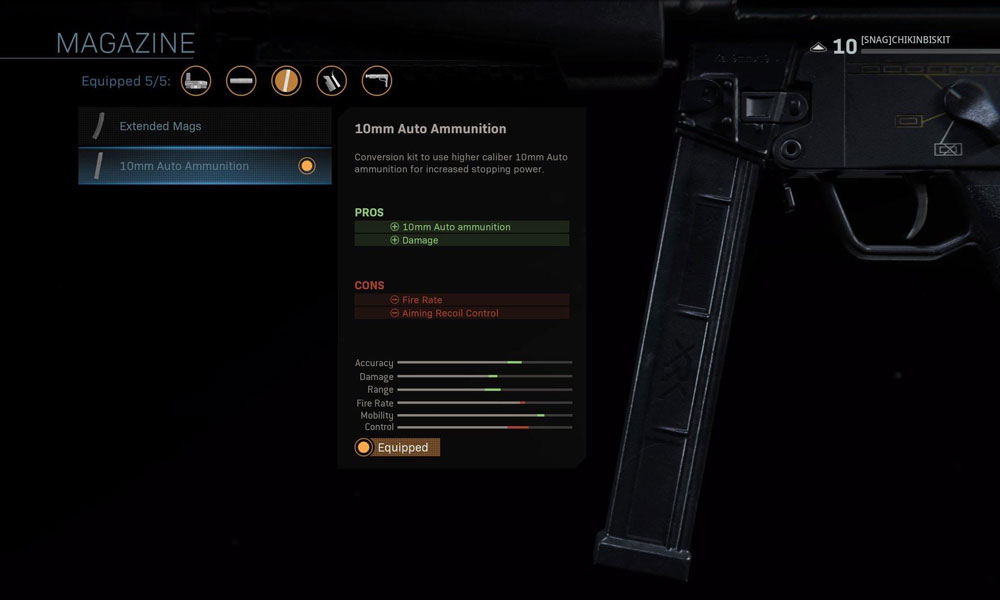 best mp5 attachment modern warfare