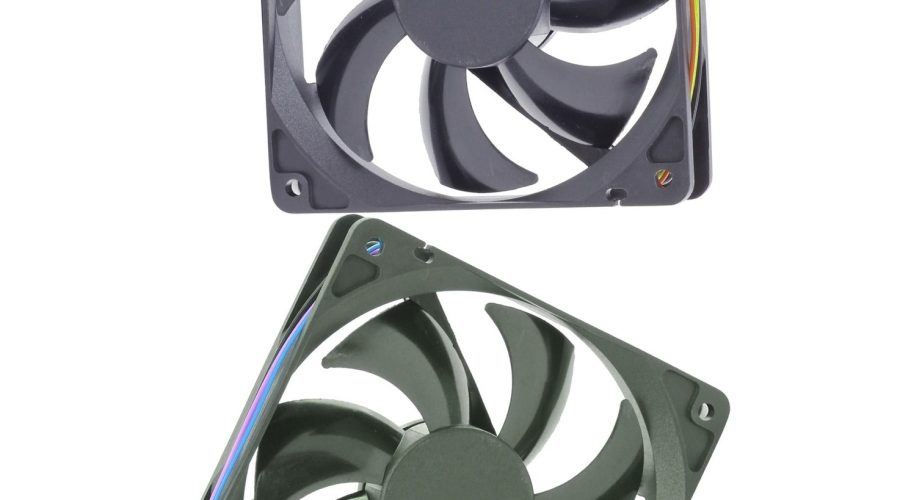 two 120mm fans floating